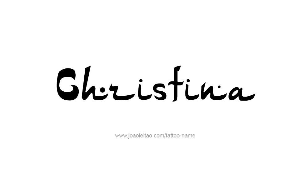 christina name tattoo designs