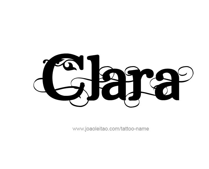 clara name tattoo designs