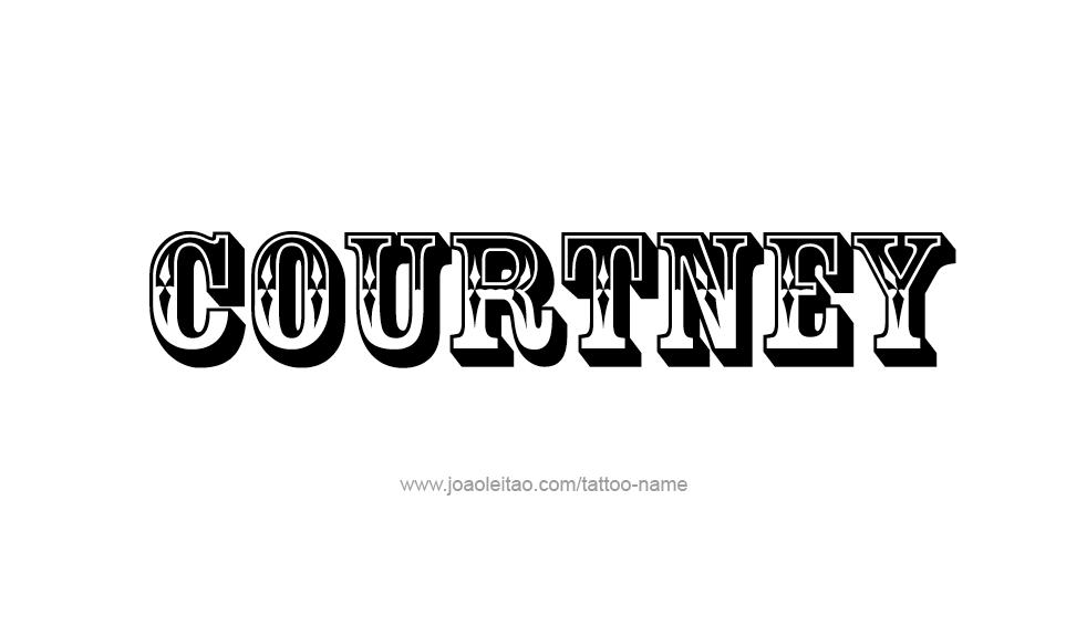 courtney name tattoo designs