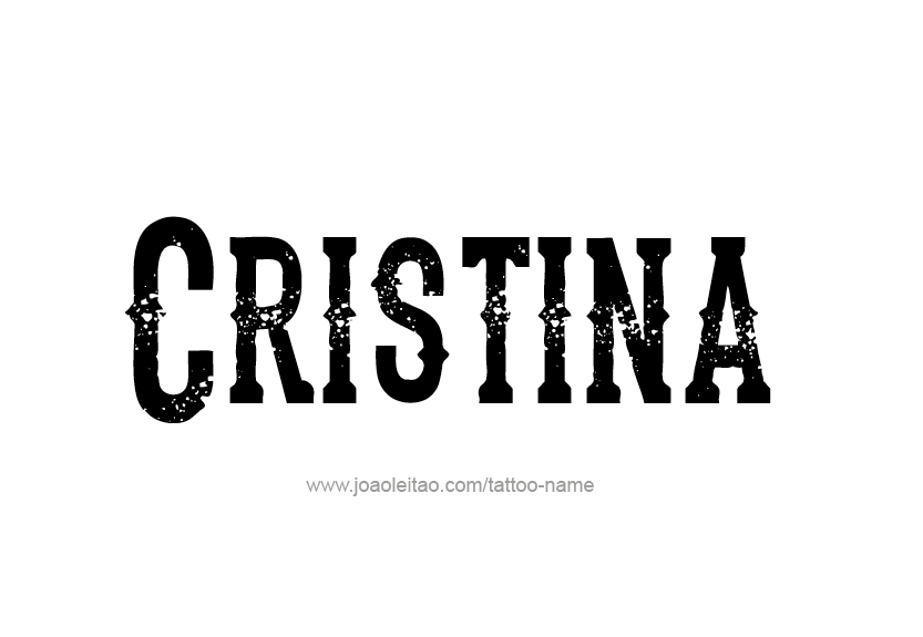 Cristina Name Tattoo Designs