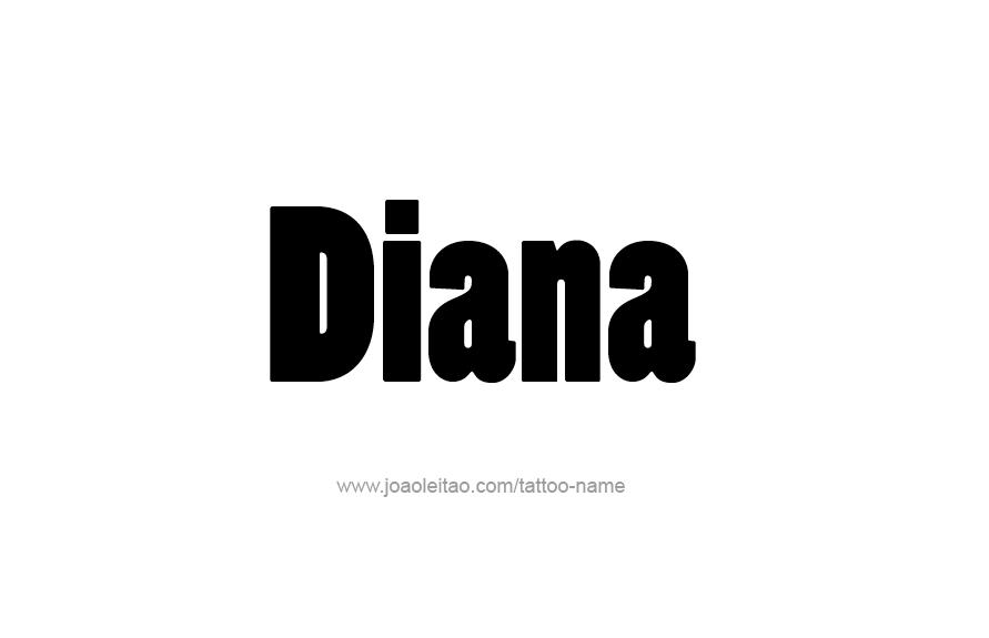 diana name tattoo designs