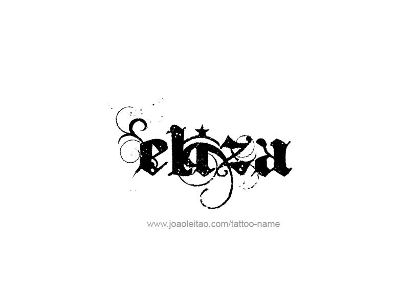 eliza name tattoo designs