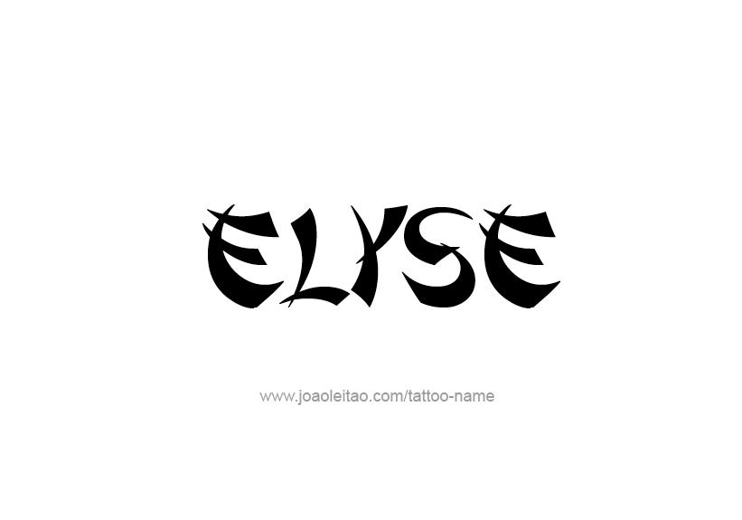 elyse name tattoo designs