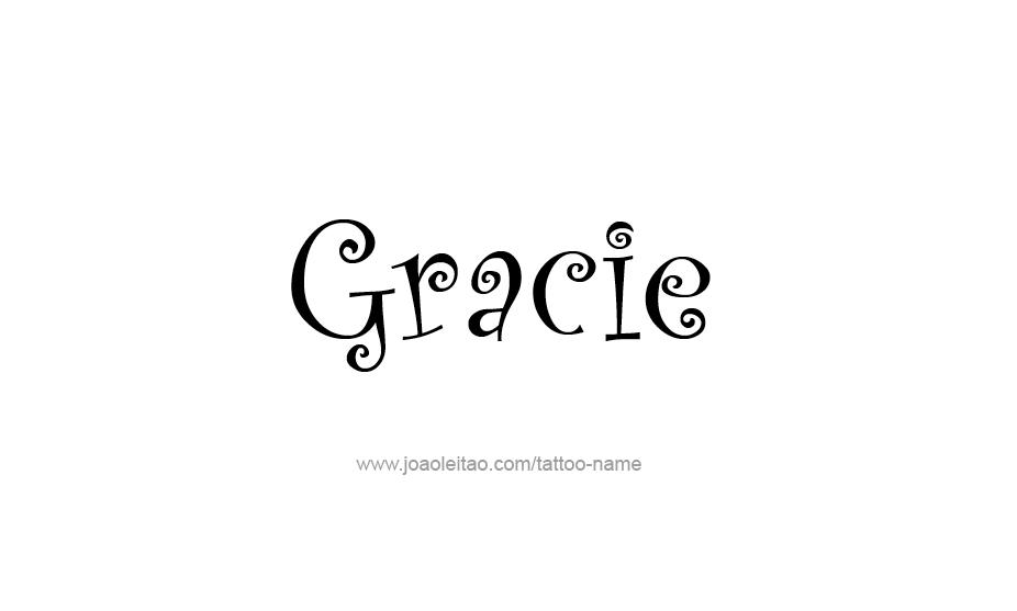 Gracie Name Tattoo Designs