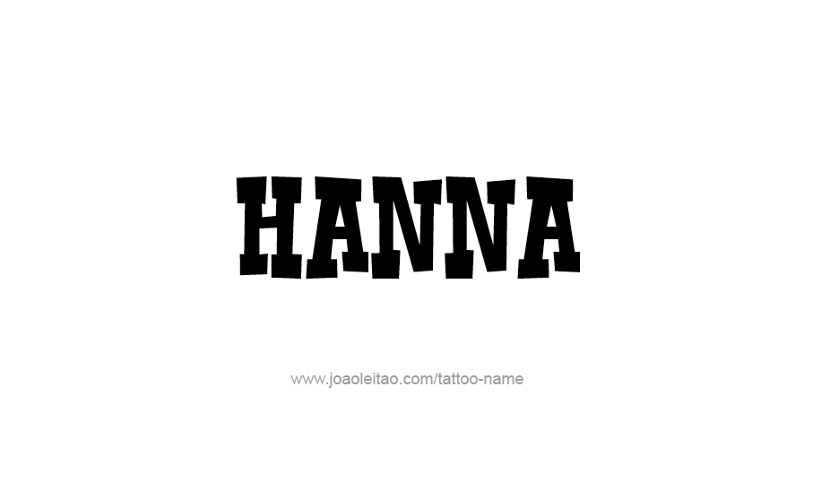 hanna name tattoo designs