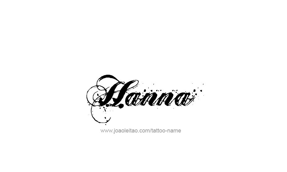 Tattoo Design Bild: Hanna Name Tattoo Designs