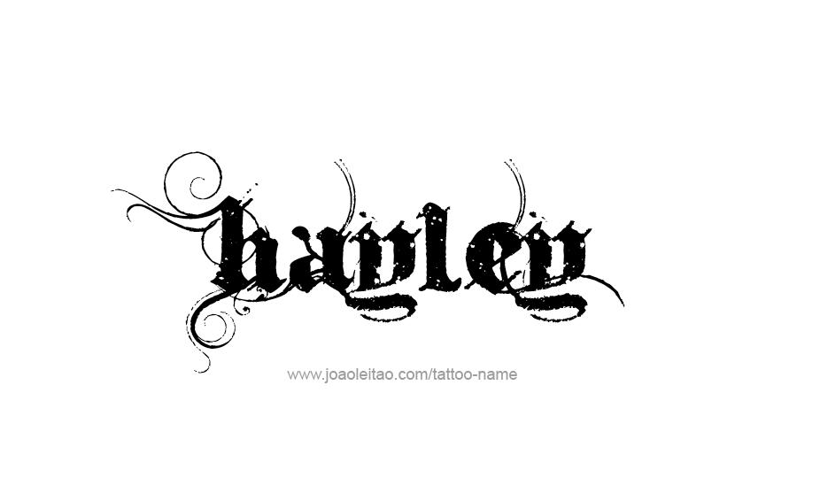 Hayley Name Tattoo