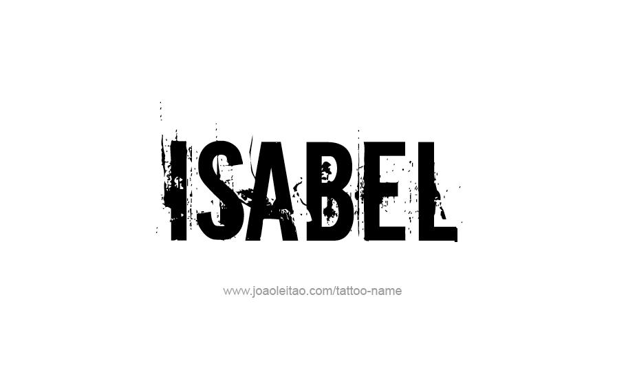 Isabel Name Tattoo Designs