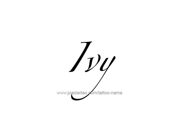 Ivy Name Tattoo Designs