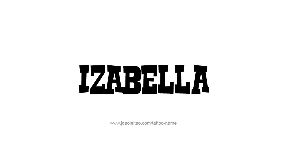 Tattoo Design Name Izabella