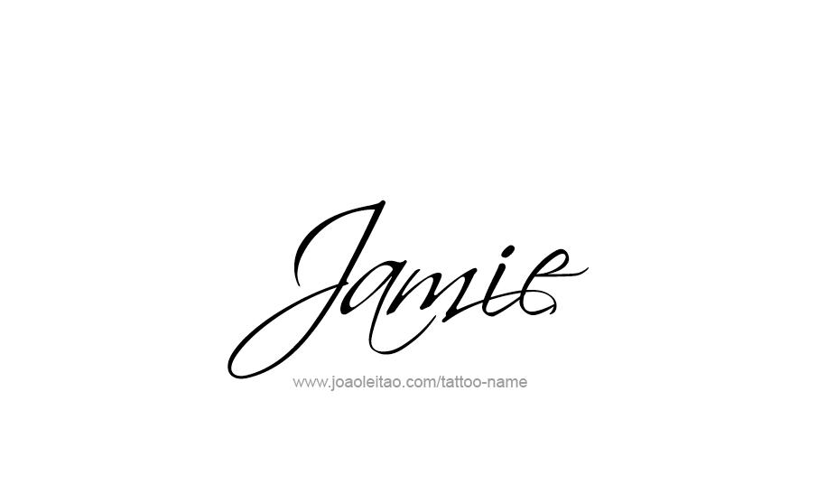 jamie name tattoo designs. Black Bedroom Furniture Sets. Home Design Ideas