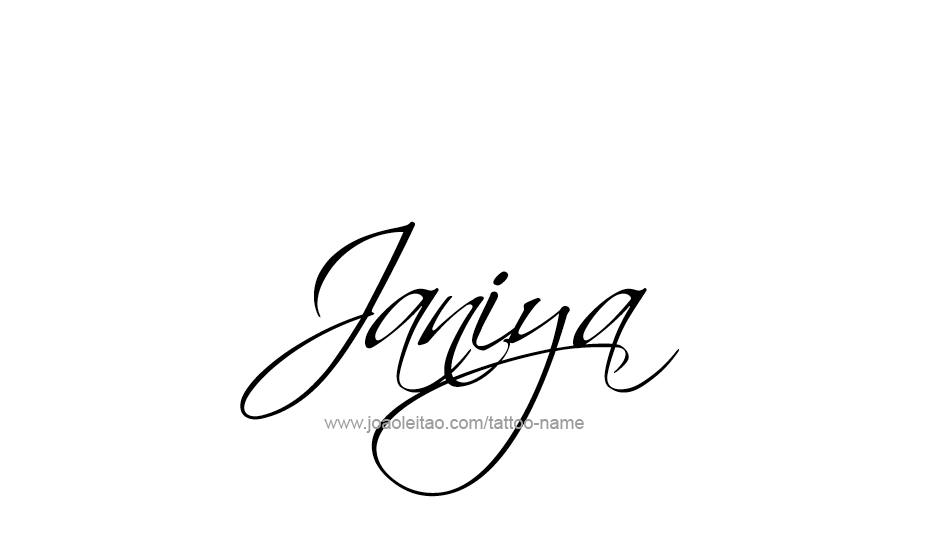 janiya name tattoo designs