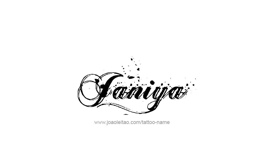 janiya name tattoo designs. Black Bedroom Furniture Sets. Home Design Ideas