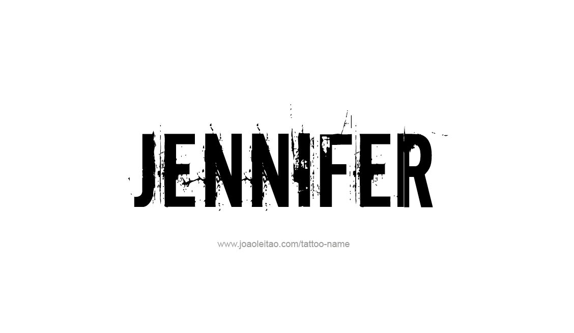 Tattoo Design Name Jennifer
