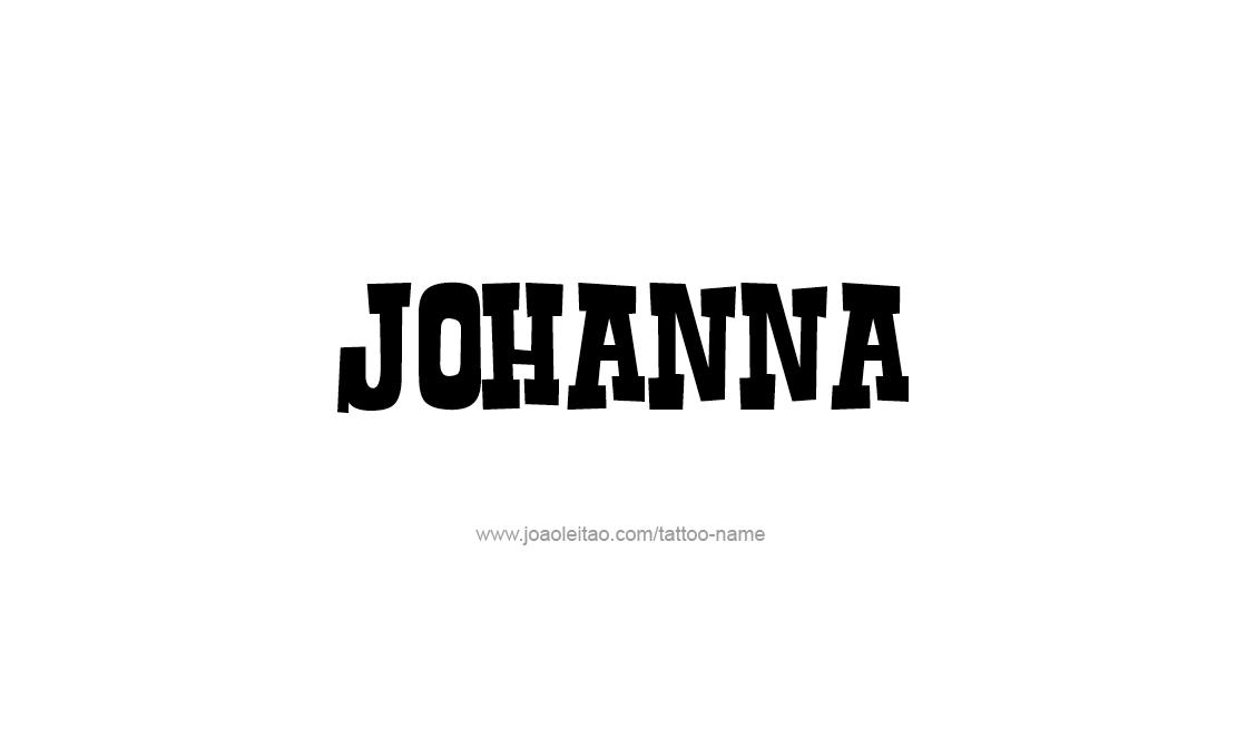 Tattoo Design Name Johanna