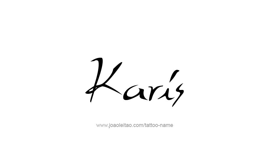 Tattoo Design Name Karis