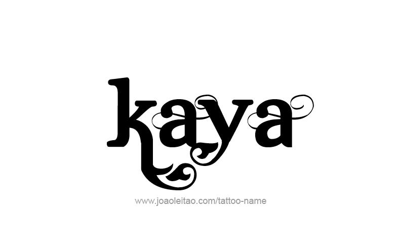 kaya name tattoo designs