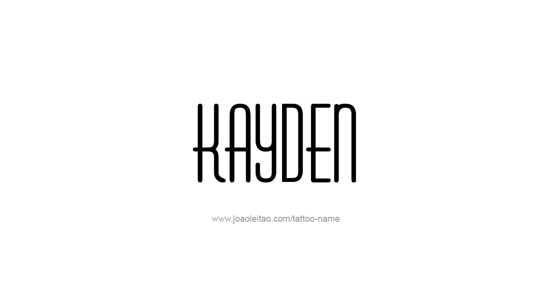 Tattoo Design Name Kayden