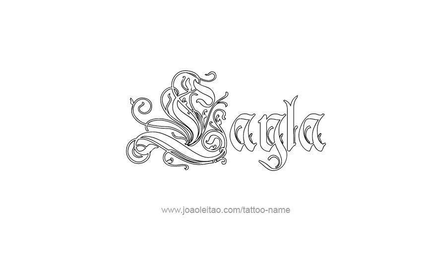Layla Name Tattoo Designs