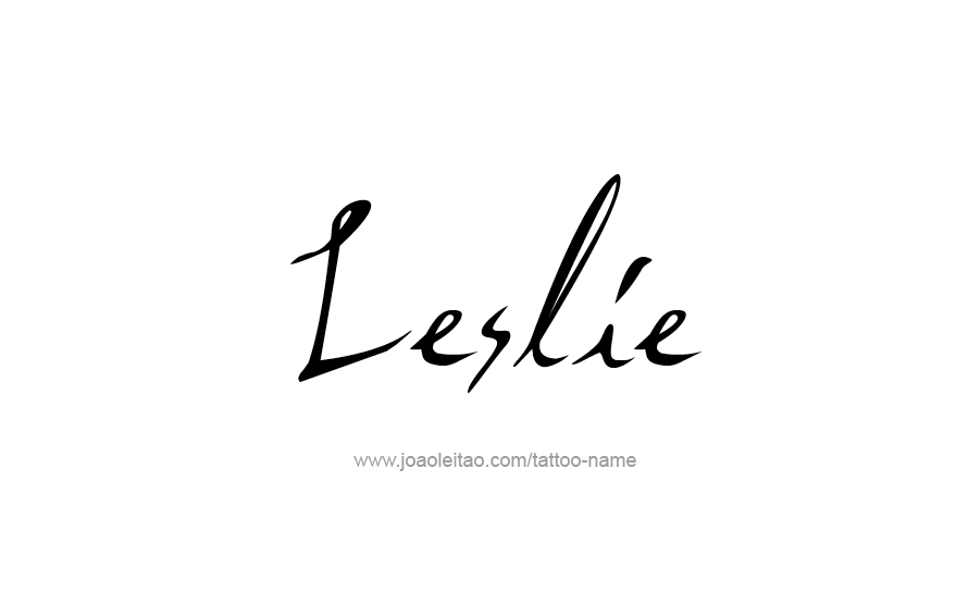 leslie name tattoo designs