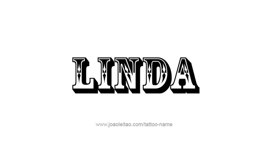 linda name tattoo designs