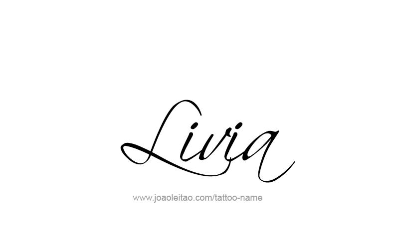 Gear Car Tattoo >> Livia Name Tattoo Designs