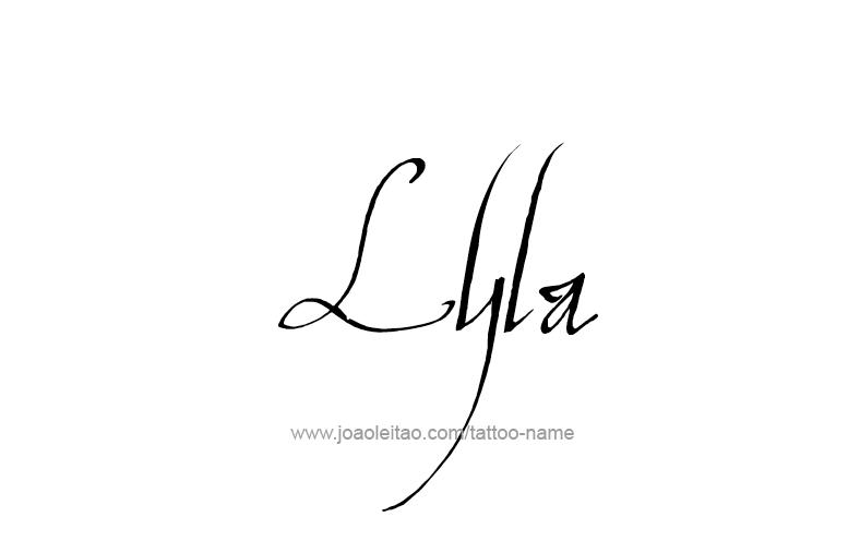 Lyla Name Tattoo Designs