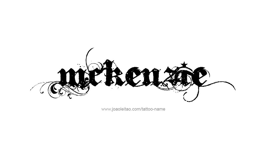 Tattoo Design Name Mckenzie