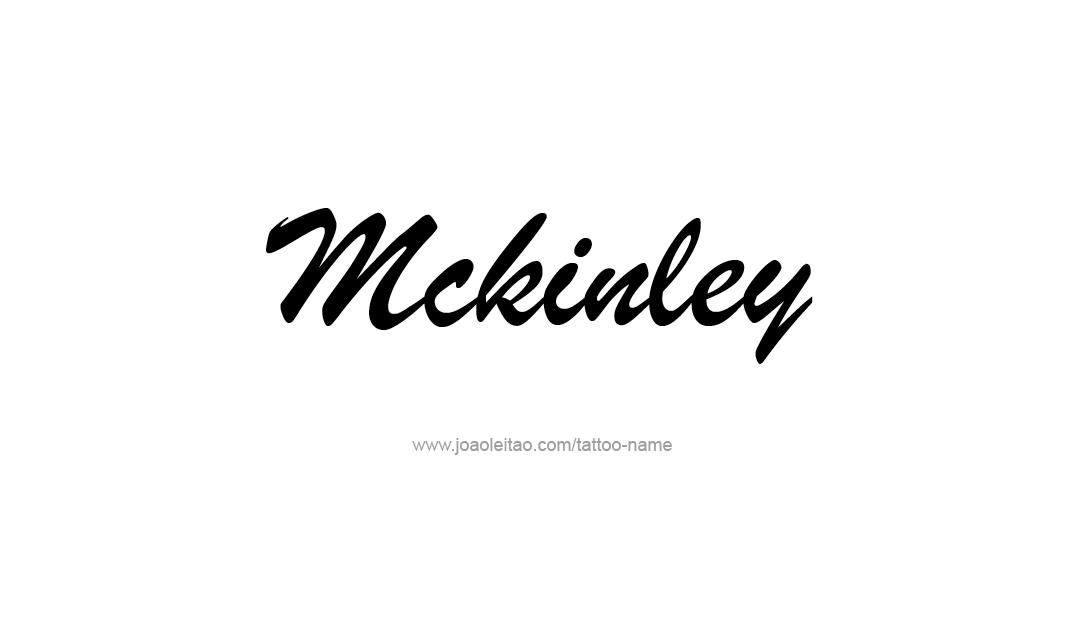 Mckinley Name Tattoo Designs