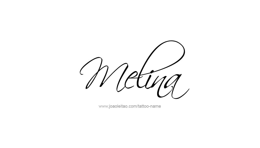Melina Name Tattoo Designs