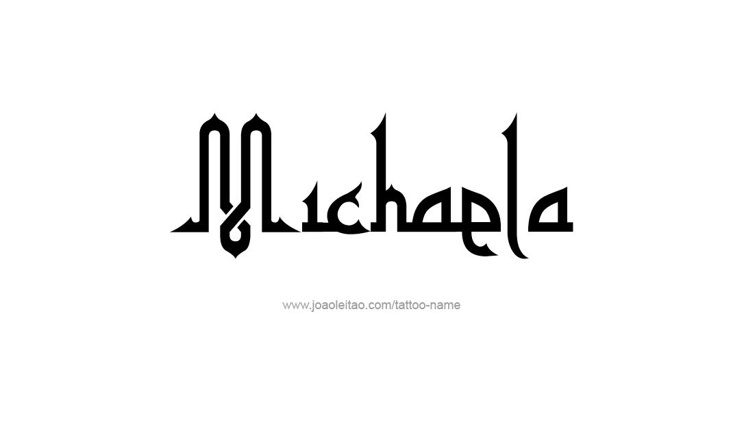 michaela name tattoo designs. Black Bedroom Furniture Sets. Home Design Ideas