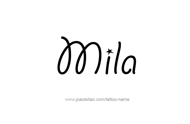 mila name tattoo designs. Black Bedroom Furniture Sets. Home Design Ideas