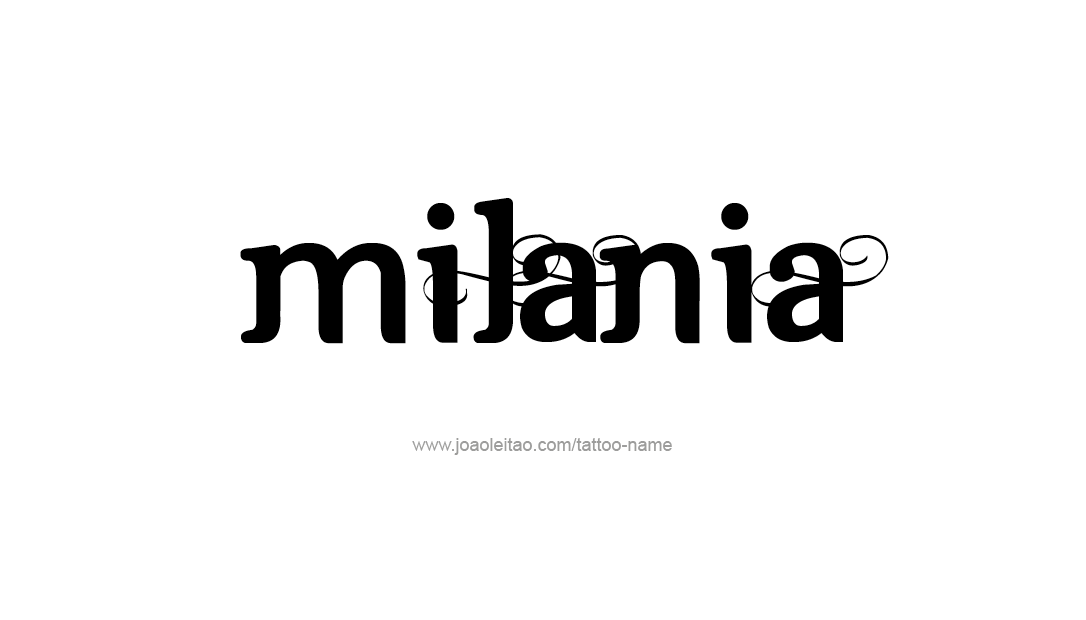 milania name tattoo designs