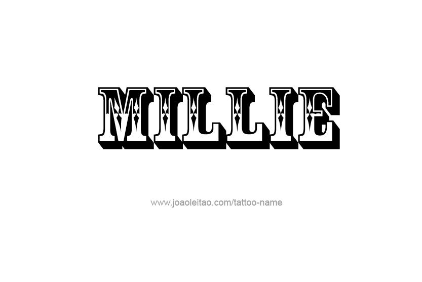 millie name tattoo designs