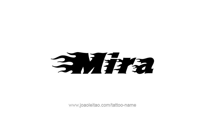 Mira Name Tattoo Designs