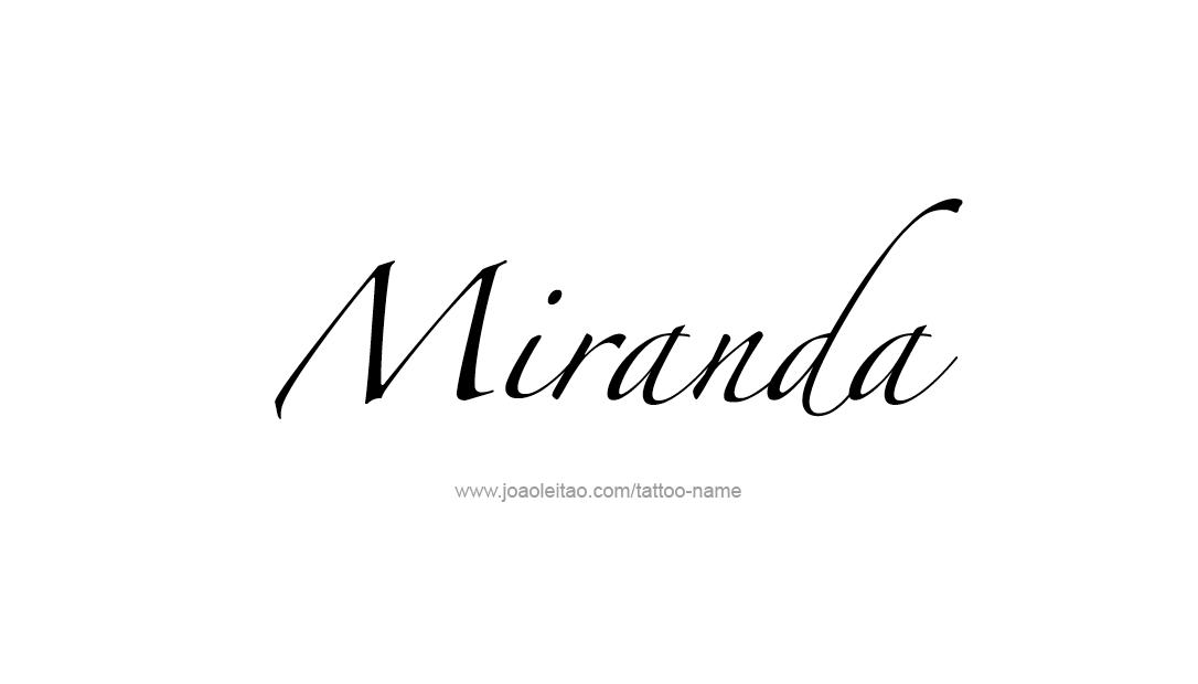 Miranda Name Tattoo Designs