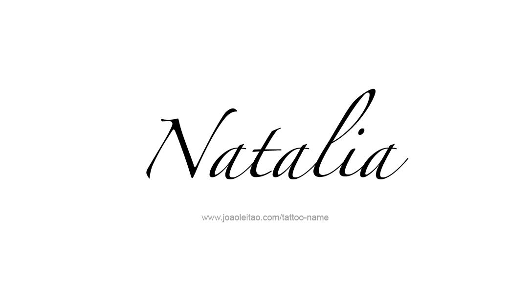 natalia name tattoo designs. Black Bedroom Furniture Sets. Home Design Ideas