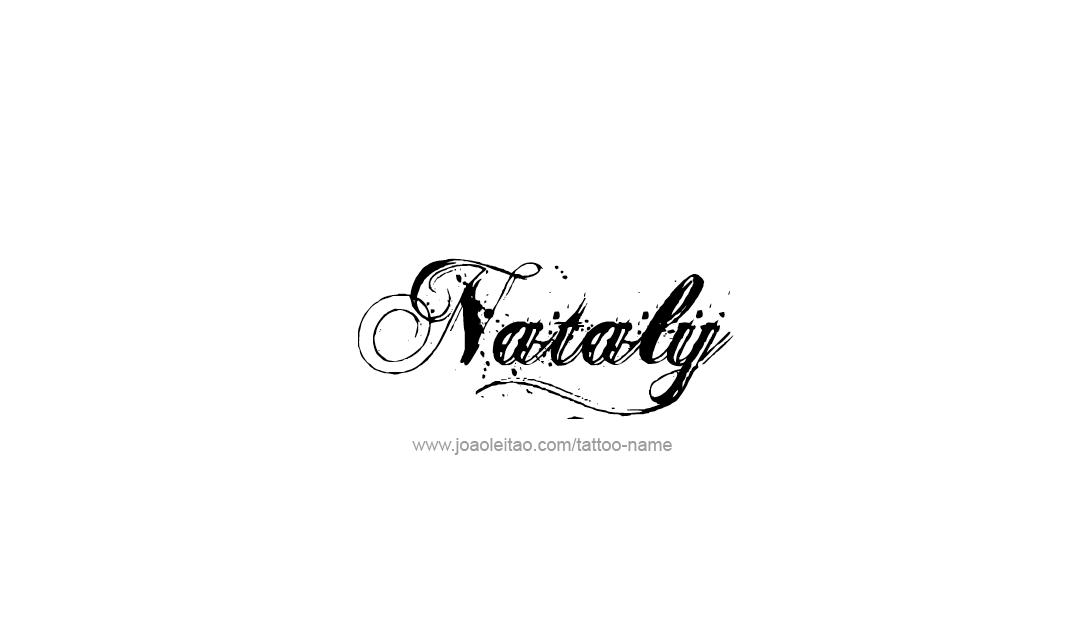 Nataly Name Tattoo Designs