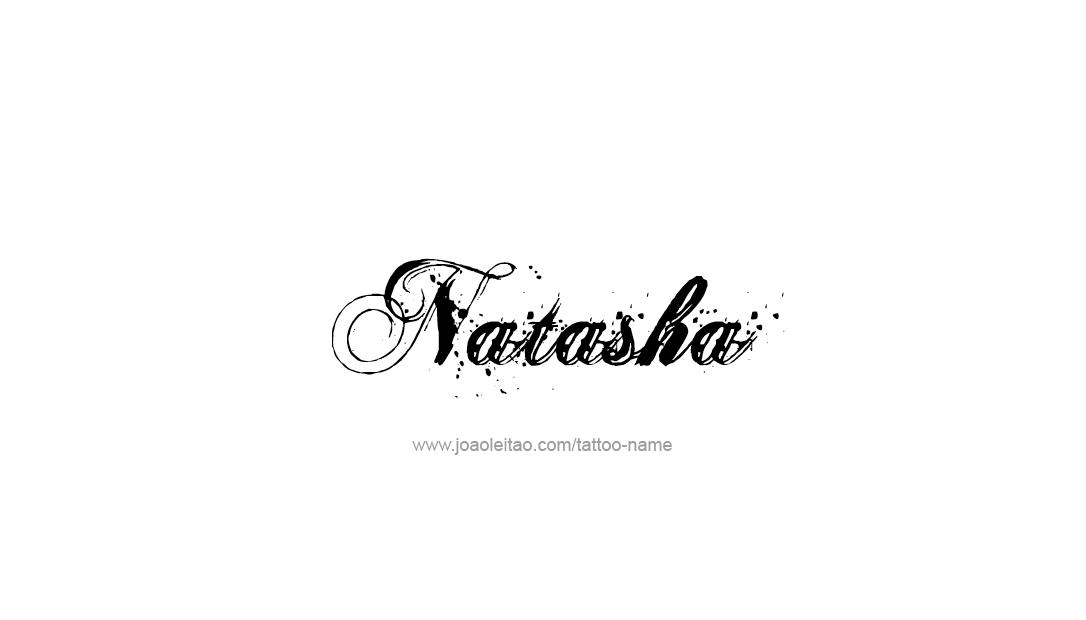 natasha name tattoo designs. Black Bedroom Furniture Sets. Home Design Ideas
