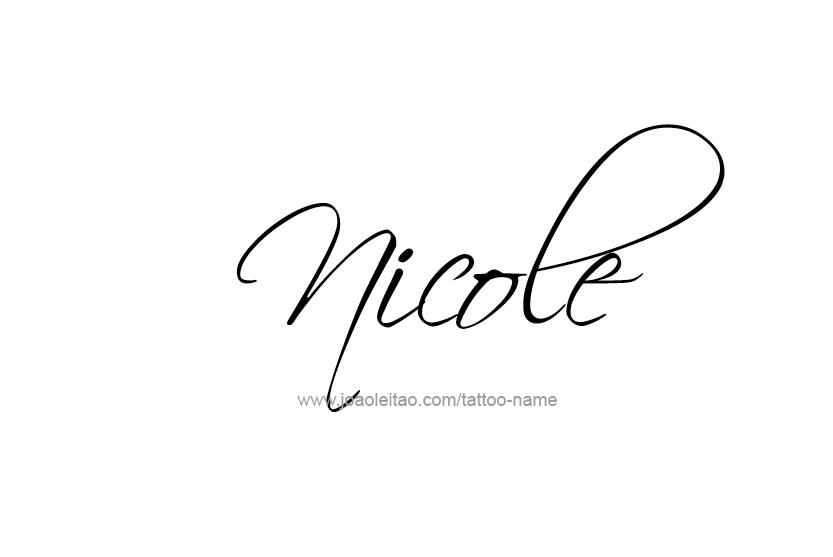 Nicole Name Tattoo Designs