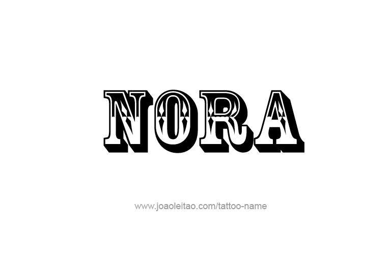 nora name tattoo designs