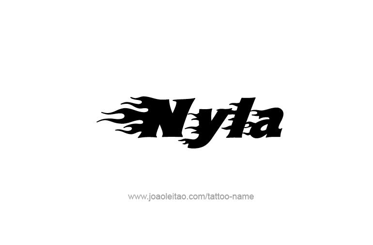 Nyla Name Tattoo Designs