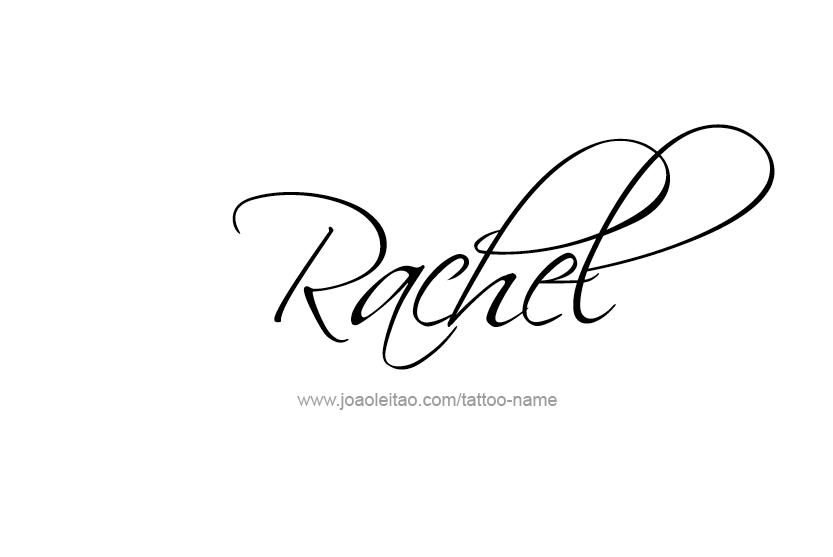 rachel name tattoo designs