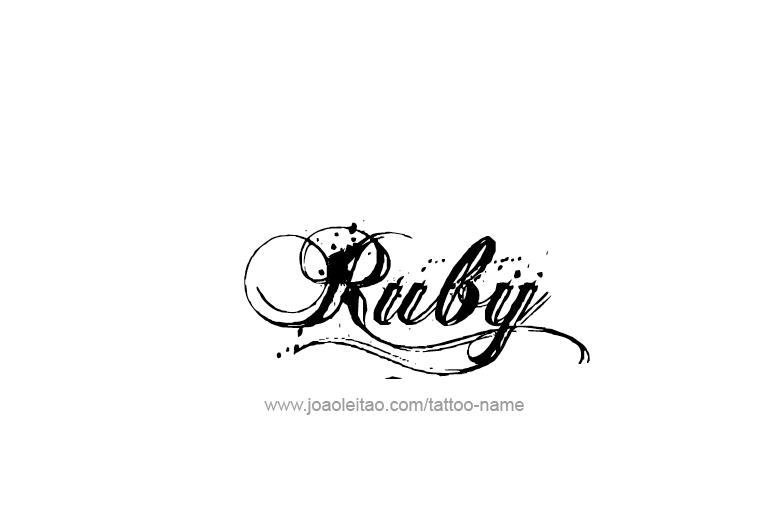 ruby name tattoo designs