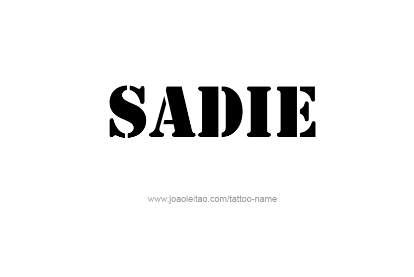 Sadie Name Tattoo Designs