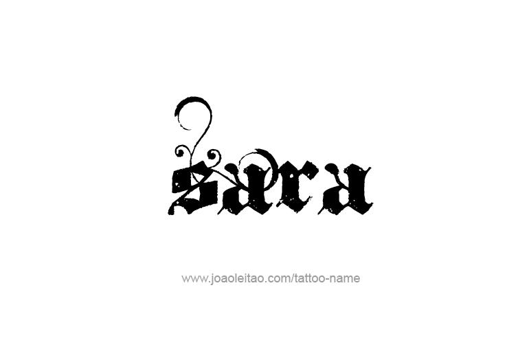 Write a name style sara