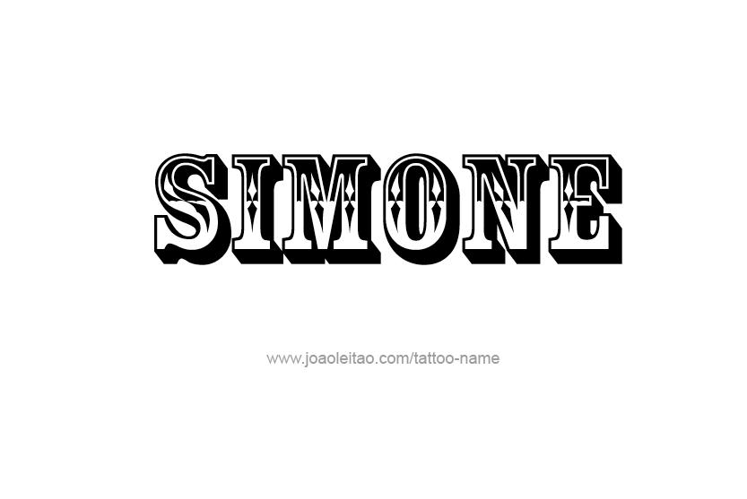 Car Rental Websites >> Simone Name Tattoo Designs