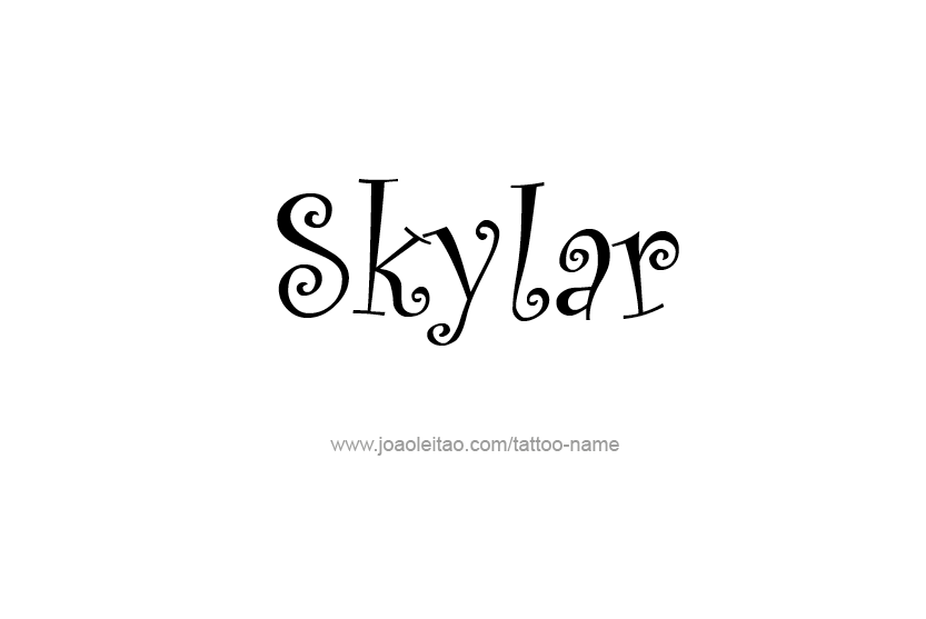 skylar name tattoo designs