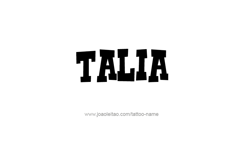 talia name tattoo designs