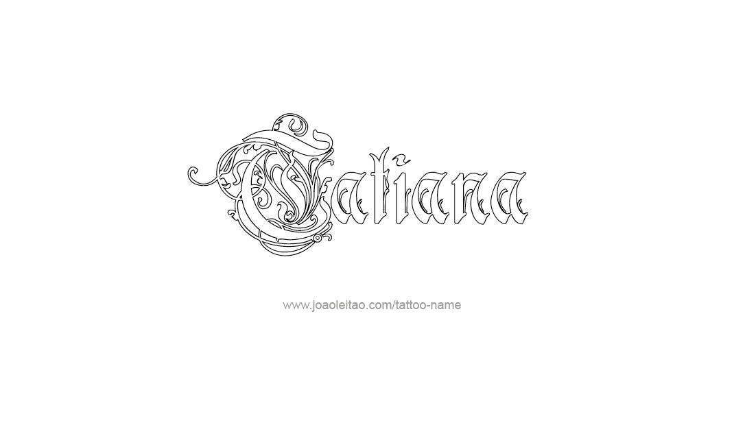 tatiana name tattoo designs. Black Bedroom Furniture Sets. Home Design Ideas